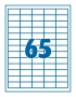 Etikett 38,1x21,2mm 65címke/lap SilverBall <100lap/dob>