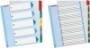 Regiszter -100211- A4 maxi 1-5 nyomtatható ESSELTE<20cs/dob>