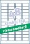 Etikett -L4736REV-25- 45,7x21,2mm FEHÉR  AVERY <25lap/dob>